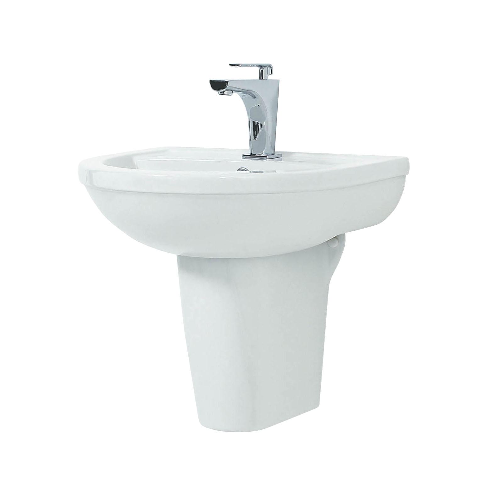 Basins With Semi Pedestal