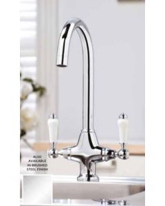 Scudo Harrogate Kitchen Tap (Available Chrome and Brushed Stainless)