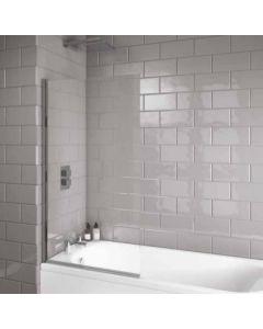 Scudo Square edge Bath Screen S6 1400 x 800mm 6mm Glass