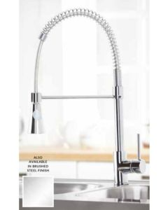 Scudo Tirare Kitchen Tap (Available Chrome and Brushed Stainless)