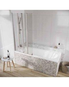 Scudo Acqua Arm 4 Panel  Bath Screen S6 1500 x 800mm 6mm Glass