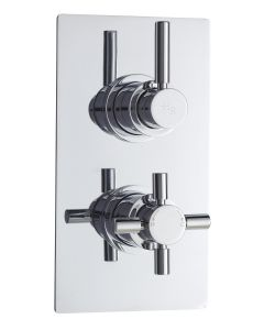 Twin Thermostatic Shower Valve With Diverter