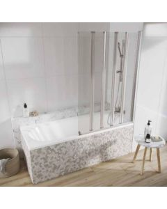 Scudo Acqua Arm 5 Panel  Bath Screen S6 1500 x 1000mm 6mm Glass