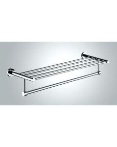 Towel shelf with rail