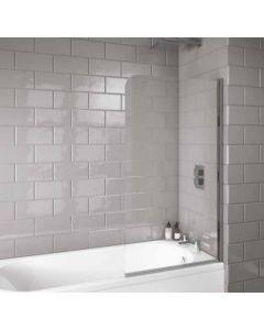 Scudo Radius edge Bath Screen S6 1400 x 800mm 6mm Glass
