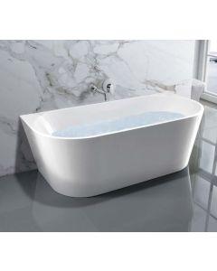 AQUA-line Dee Freestanding Bath inc Chrome Overflow & Waste
