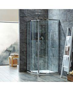 Scudo Luxury S8 Double Door Equal Quadrant Shower Enclosures - 8mm Glass