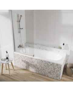 Scudo Acqua Arm Bath Screen S6  1500 x 800mm 6mm Glass