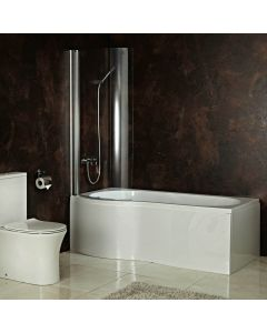 AQUA-line Clearwater Shower Bath inc Panels & Shower Screen