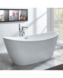 AQUA-line Michelle Freestanding Bath inc Chrome Overflow & Waste