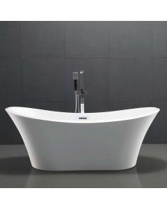 AQUA-line Carissa Freestanding Bath inc Chrome Overflow & Waste