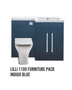 Scudo Lili 1100  Indego Blue  Furniture Set inc Basin