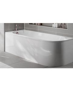 Scudo J Shape Shower Bath  (available Left or right handed) 1700 x 750