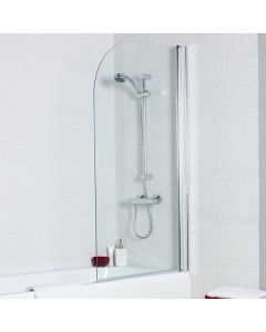 Kartell Koncept Straight Shower Bath Screen with Radius Edge