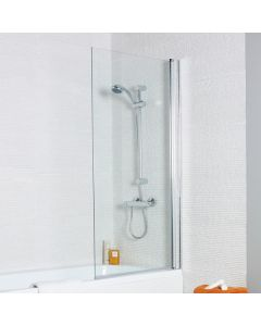 Kartell Koncept Straight Shower Bath Screen with Square Edge