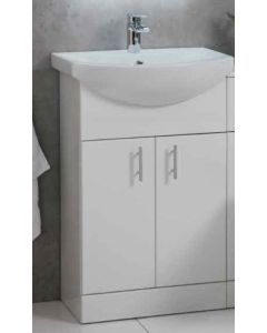 Scudo Lanza 550mm wide Vanity with Basin (needs Tap and Waste) choice Gloss White of Anthracite