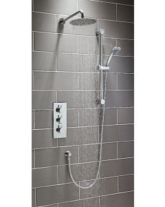 Scudo Round Thermostatic concealed Shower Set Four with Riser -Tipple controlled