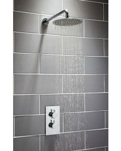 Scudo Round Thermostatic Concealed Shower Set Three with  Fixed Head