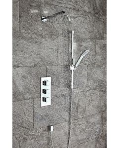 Scudo Square Thermostatic Concealed Shower Set Four -Triple control