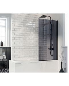 Scudo Mono  Square edge Bath Screen S6 1400 x 800mm 6mm Glass
