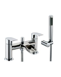 Scudo Monument Bath Shower Mixer with shower kit and wall bracket