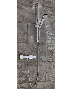 Scudo Square Thermostatic exposed Shower Set Two
