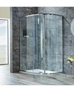 Scudo Luxury S8 Double Door Offset Quadrant Shower Enclosures - 8mm Glass