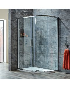 Scudo Luxury S8 Single Door Offset Quadrant Shower Enclosures - 8mm Glass