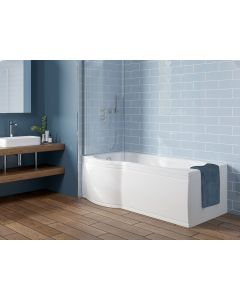 Scudo P Shape Shower Bath (available Left or right handed) 1700 x850