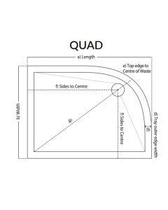 Scudo Quad Ultra Low 25mm Profile Shower Trays