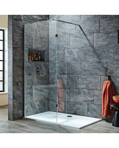 Scudo S8  Wetroom  with Return Panel - 8mm glass