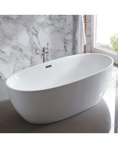 AQUA-line Fjord Freestanding Bath inc Chrome Overflow & Waste