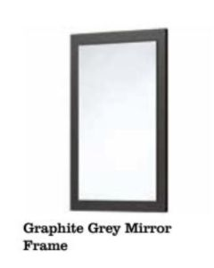 Scudo Mirror With Matt Grey Frame