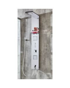 AQUA-line Munich Stainless Steel Shower Column with Square Push Buttons