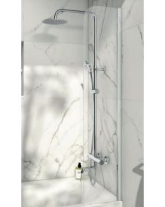 Scudo Radius edge Bath Screen S6 1400 x 300mm 6mm Glass