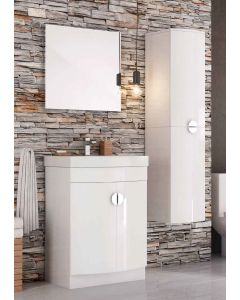 Scudo Space Bathroom Furniture  Set -White High Gloss