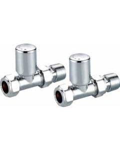 Scudo Modern Straight Radiator Valves