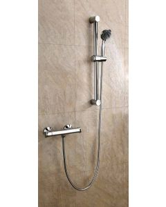 Scudo Complete Budget Shower Kit with adjustable riser & fast fit Brackets