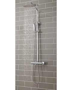 Scudo Marco Oval Thermostatic Chrome Bar Shower Set With Rigid Riser & Hand Shower