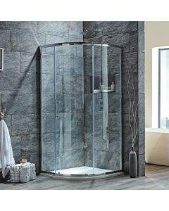 Scudo Luxury S8 Single Door Equal Quadrant Shower Enclosures - 8mm Glass