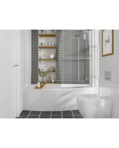 Scudo Space Saver Shower Bath  (available Left or right handed) 1695 x 695
