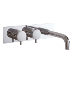 AQUA-line Reno Twin Valve Dual Function Thermostatic bath/ Shower wall filler