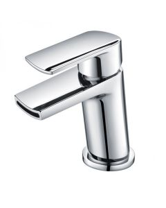 Scudo Leo Mini Mono Basin Mixer with push waste