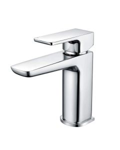 Scudo Muro Mono Basin Mixer with Click Waste - Chrome