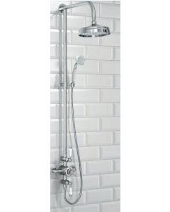 Scudo Traditional Thermostatic Shower Valve set with Rigid Riser & Hand Shower