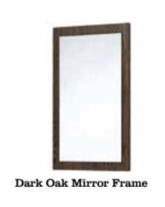 Scudo Mirror With Dark Oak Frame