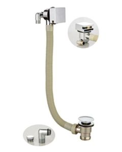 Scudo Square Bath Filler with Overflow & Waste
