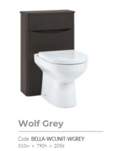 Bella 500mm Wolf Grey Floor Standing BTW  Unit