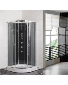 Opus Shower Cabin - Carbon Black (select size)